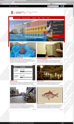 Jaarverslag 2012 RUG Bibliotheek